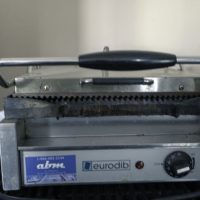Used Eurodib Sandwich Panini Grill SFE02345-120 Grooved