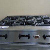 Used Wells Hot Plate HDHP-3630G Gas 6 Burner
