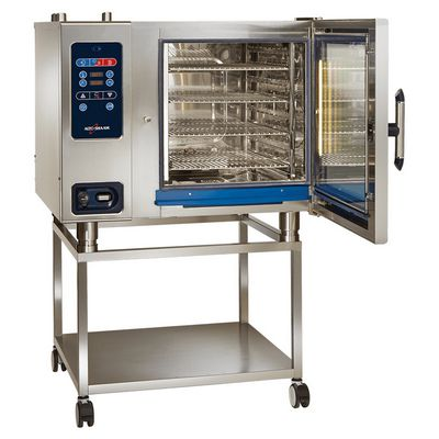 alto-shaam ctc7-20g commercial gas combi oven door open on stand