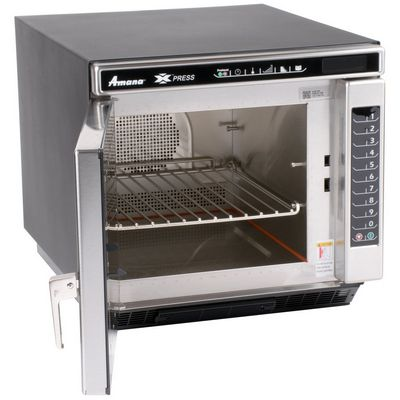amana ace14n convection express high-speed cooking oven door open