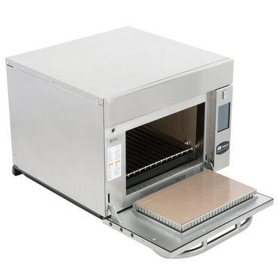 amana axp22tlt express combination high-speed cooking oven door open