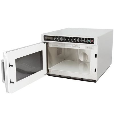 amana hdc12a2 heavy duty commercial microwave oven door open