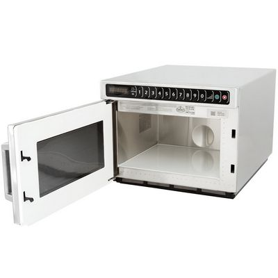 amana hdc182 heavy duty commercial microwave oven door open