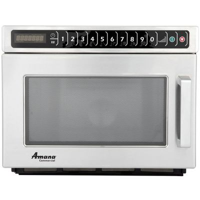 amana hdc182 heavy duty commercial microwave oven front view
