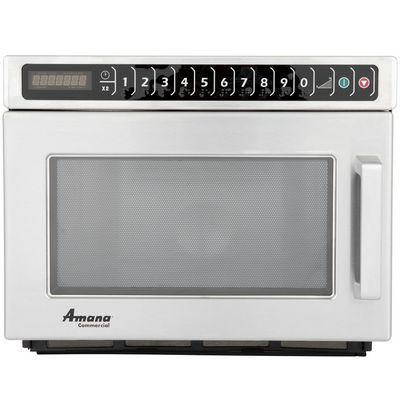 amana hdc212 heavy duty commercial microwave oven front view