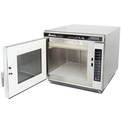 amana rc17s2 heavy duty commercial microwave oven door open