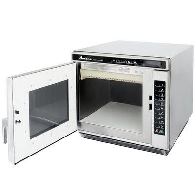 amana rc22s2 heavy duty commercial microwave oven door open