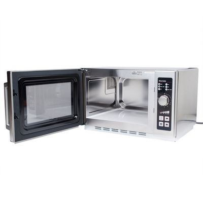 amana rcs10dse moderate duty commercial microwave oven door open