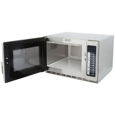 amana rfs18ts moderate duty commercial microwave oven door open