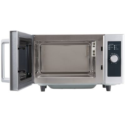 amana rms10ds moderate duty commercial microwave oven door open