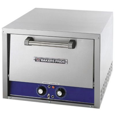 bakers pride p18s electric double deck pizza oven front view