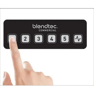 blendtec connoisseur-825 beverage blender with sound enclosure control buttons