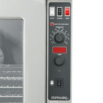 blodgett zephaire-100-e electric convection oven singel deck control panel