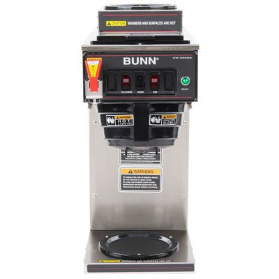 bunn cwtf15-2 automatic decanter coffee brewer front view