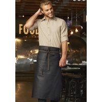 Chefworks ALWWT021-BNB-0 Boulder Bistro Apron - Black-Brown