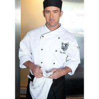 Chefworks COBT-WHT-M Champagne Executive Chef Coat - White
