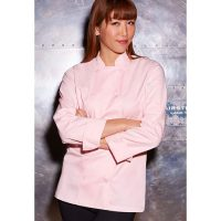 Chefworks CWLJ-PIN-S Marbella Womens Chef Coat - Pink