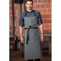 Chefworks AB038-BLK-0 Portland Adjustable Chefs Apron - Black