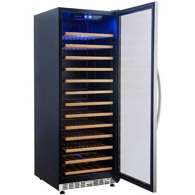 eurodib usf128d glass door wine merchandiser door open