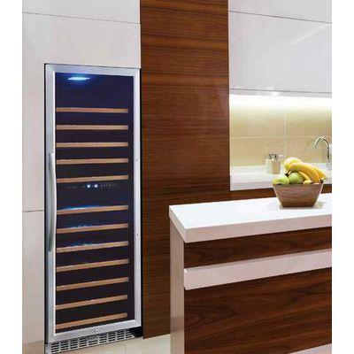 eurodib usf128d glass door wine merchandiser in kitchen