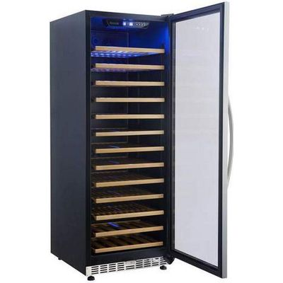 eurodib usf128s glass door wine merchandiser door open