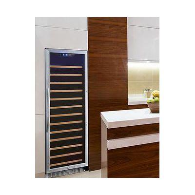 eurodib usf128s glass door wine merchandiser in kitchen