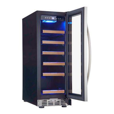 eurodib usf18s glass door wine merchandiser door open