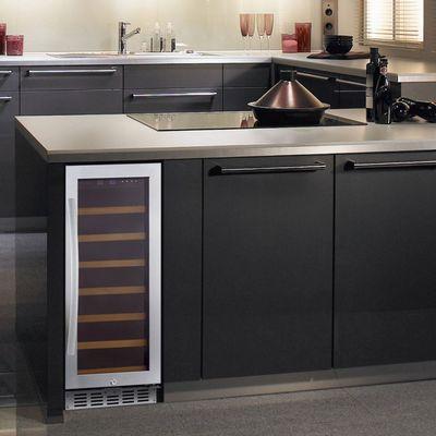 eurodib usf33s glass door wine merchandiser in kitchen