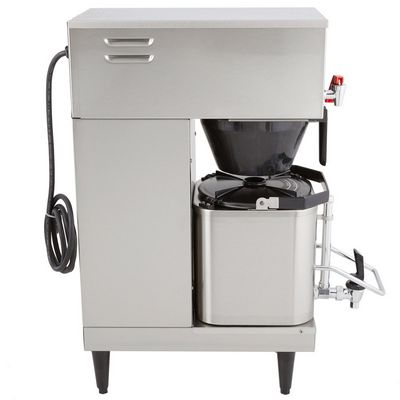 grindmaster p200e single shuttle coffee brewer side view