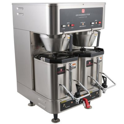 grindmaster p400e dual shuttle coffee brewer front view