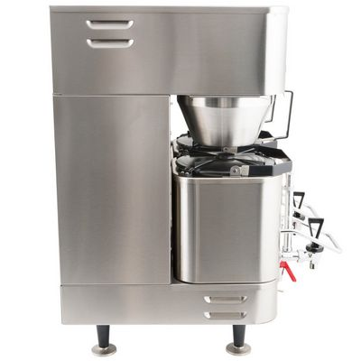 grindmaster p400e dual shuttle coffee brewer side view