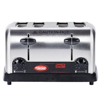 hatco tpt-120 commercial pop up toaster front view