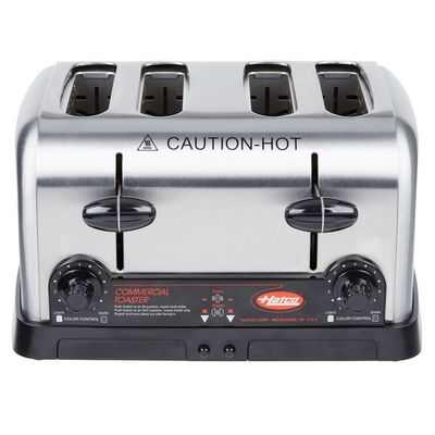 hatco tpt-208 commercial pop up toaster front view