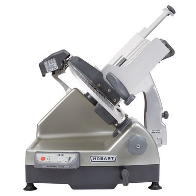 hobart hs9n-1 semi automatic meat slicer side view