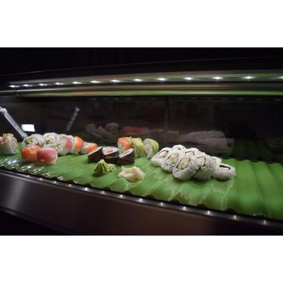 hoshizaki hnc-180ba-sl refrigerated sushi display case led