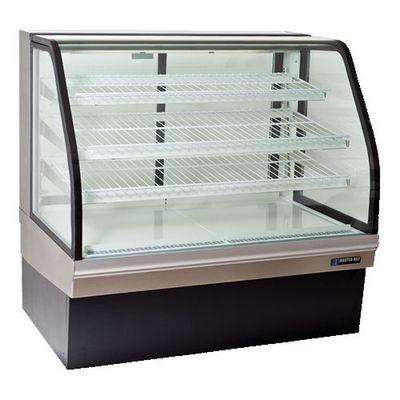 master-bilt cgb-59 floor display refrigerator curved door open