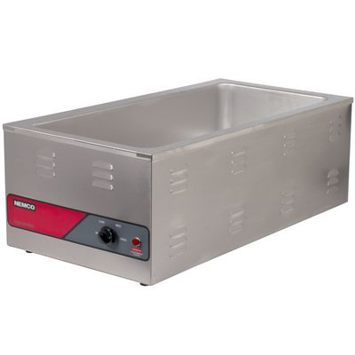 nemco 6055a single pan food warmer right side view