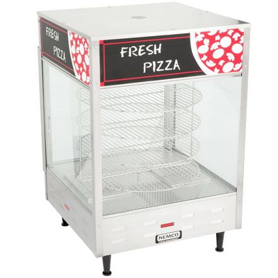 nemco 6452 commercial pizza warmer left side view