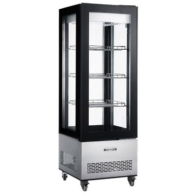 new air ndc-040-ss vertical display case empty inside