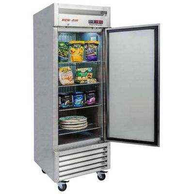new air nsf-061-h reach-in freezer door open