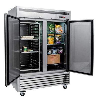 new air nsf-130-h reach-in freezer door open