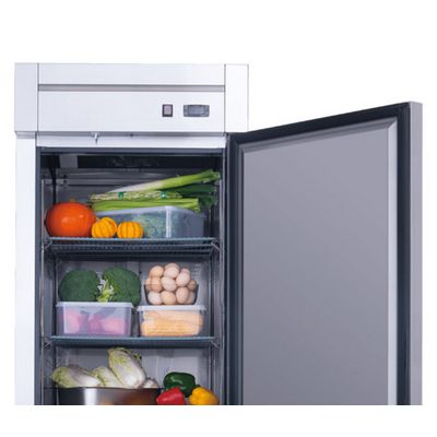 new air nsr-050-h reach in refrigerator solid door door open