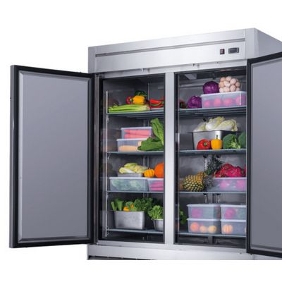 new air nsr-115-h reach in refrigerator solid door door open