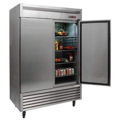 new air nsr-130-h reach in refrigerator solid door door open