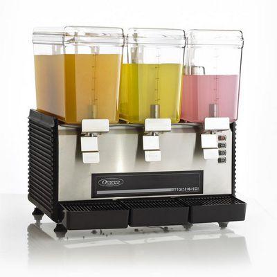 omega osd30 beverage dispenser filled with juice