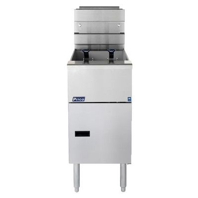 pitco sg14-s commercial gas fryer front view