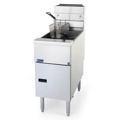pitco sg14-s commercial gas fryer right side view