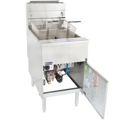 pitco sg18-s commercial gas fryer door open