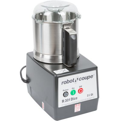 robot coupe r301-ultra-dice food processor stainless steel bowl stainless steel batch bowl