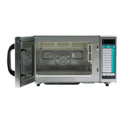 sharp r-21lvf moderate duty commercial microwave oven door open
